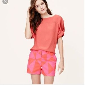 Ann Taylor Geometric Riviera Shorts